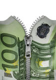 Zippered hundred euro note Stock Images