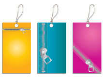 Zippered labels Stock Image
