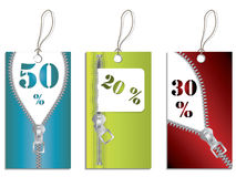 Zippered labels 2 Stock Image