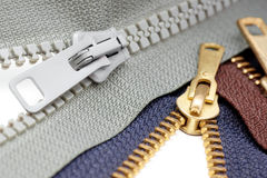 Zippers Fotografia de Stock
