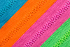 Zippers background Royalty Free Stock Photos