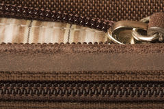 Zippers Zipper Open Closed Closeup Royalty Free Stock Photography