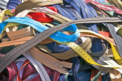 Zippers on a market Royalty Free Stock Photography