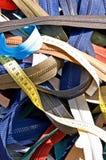 Zippers on a market Stock Photos