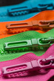 Zippers pull tabs Stock Photos
