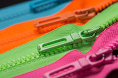 Zippers pull tabs Stock Photo