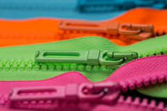 Zippers pull tabs Stock Images