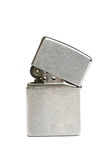 Zippo. Silver zippo lighter isolated on white background Stock Photo
