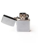 Zippo. Side view of a zippo isolated Stock Photography