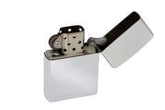 Zippo-Feuerzeug lokalisiert auf weißem Hintergrund Lizenzfreie Stockfotos