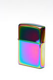 Zippo lighter. Zippo rainbow lighter cover closed Royalty Free Stock Photography