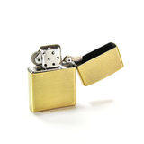 Zippo Lighter. Closed Up Zippo Lighter Isolated on White Background Royalty Free Stock Photos