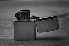 Zippo Lighter silver Royalty Free Stock Photography