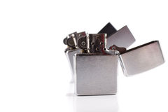 Zippo. In three different motions Stock Photo