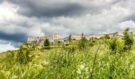 Zipser Castle Spissky hrad Slovakia unesco world heritage attractions. Travel Europe stock photo