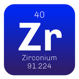 Zirconium chemical element Royalty Free Stock Photos