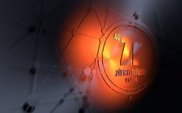 Periodic table element zirconium icon stock illustration zirconium chemical element stock image urtaz Gallery