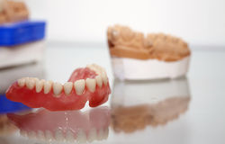 Zirconium Porcelain Tooth plate in Dentist Store Stock Photo