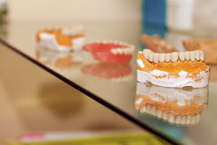 Zirconium Porcelain Tooth plate in Dentist Store Royalty Free Stock Image