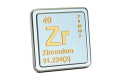 zirconium zr chemical element sign 3d rendering stock photography - Periodic Table Zr