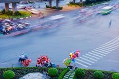Zirkulation durch Fahrzeug an der Hang Xanh-Schnittüberführung, Saigon, Vietnam Stockfotografie