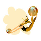 Zirkus-Akrobat-Mädchen Lizenzfreie Stockbilder