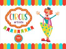Zirkus-Ausführend-Illustration Stockbild