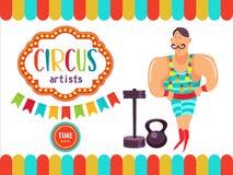 Zirkus-Ausführend-Illustration Lizenzfreie Stockbilder