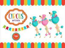 Zirkus-Ausführend-Illustration Lizenzfreies Stockbild