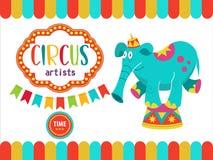 Zirkus-Ausführend-Illustration Stockbilder