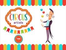 Zirkus-Ausführend-Illustration Lizenzfreie Stockfotografie
