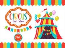 Zirkus-Ausführend-Illustration Lizenzfreies Stockfoto
