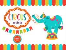 Zirkus-Ausführend-Illustration Lizenzfreie Stockfotos