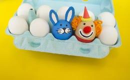 zirkus Das Konzept von Ostern mit den netten und netten handgemachten Eiern Lizenzfreie Stockfotografie