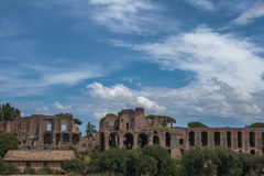 Zirkus Maximus - Circo Massimo - römische alte Ruinen Stockfotografie