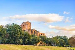 Zirkus Maximus Exterior View, Rom, Italien Stockbilder