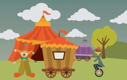 Zirkus mit Künstlern Stockbild