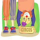 Zirkus und Clown lizenzfreie abbildung