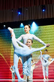 Zirkus-Unterhaltungsshow 'Romantics', am 21. Februar 2016 in Minsk, Weißrussland Stockfotografie