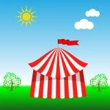 Zirkus-Zelt-Ikone Lizenzfreie Stockbilder