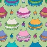 Zirkus-Zelt-nahtloses Muster Lizenzfreie Stockbilder