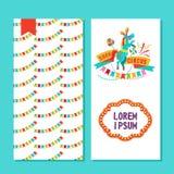 Zirkusausführende zwei Design der Seiten Plakat, des Fliegers oder der Einladung Lizenzfreie Stockbilder