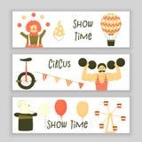 Zirkussatz Charaktere Stockbild