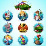 Zirkusvektor-Clipartsatz lizenzfreie stockfotografie