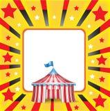 Zirkuszelt und -hintergrund Stockbild
