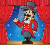 Zirkuszirkusdirektor-Themabild Lizenzfreies Stockbild
