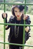 Zirytowana gothic dziewczyna Fotografia Royalty Free