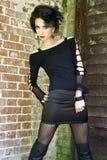 Zirytowana gothic dziewczyna Fotografia Stock