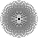 Zirytowana, strzępiasta kurenda, okręgu element Koncentryczni kształty z di ilustracja wektor
