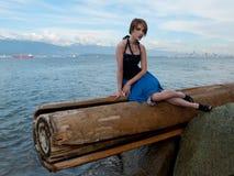 zirytowany mody modela target1349_0_ Zdjęcie Stock